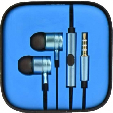 Ακουστικά Pistons 3.5mm Με Μικρόφωνο Μπλέ