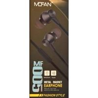 Ακουστικά Μαγνητικά Mofan MF-005 3.5mm Με Μικρόφωνο Μαύρα