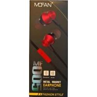 Ακουστικά Μαγνητικά Mofan MF-005 3.5mm Με Μικρόφωνο Κόκκινα