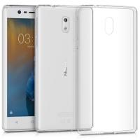 Θήκη Σιλικόνης για Nokia 3 Διάφανη