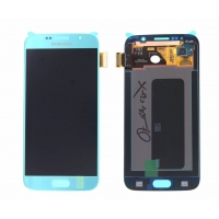 Γνήσια Οθόνη με Μηχανισμό Αφής Για Samsung SM-G920F Galaxy S6 Μπλέ GH97-17260D