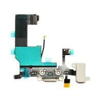 Flex θύρας φόρτισης/ακουστικων για iPhone 5 Λευκό