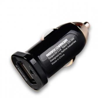 Φορτιστής Αυτοκινήτου USB Remax 2,1A Single Black