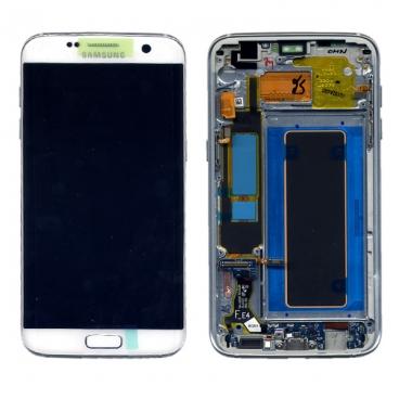 Γνήσια Οθόνη με Μηχανισμό Αφής Για Samsung SM-G935F Galaxy S7 Edge Άσπρη GH97-18533D