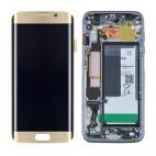 Οθόνη Για Samsung SM-G935F Galaxy S7 Edge Με Τζάμι Χρυσή