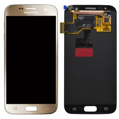 Γνήσια Οθόνη με Μηχανισμό Αφής Για Samsung SM-G930F Galaxy S7 Χρυσό GH97-18523C