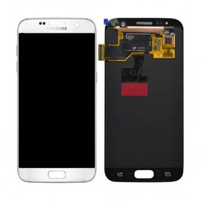 Γνήσια Οθόνη με Μηχανισμό Αφής Για Samsung SM-G930F Galaxy S7 Άσπρη GH97-18523D