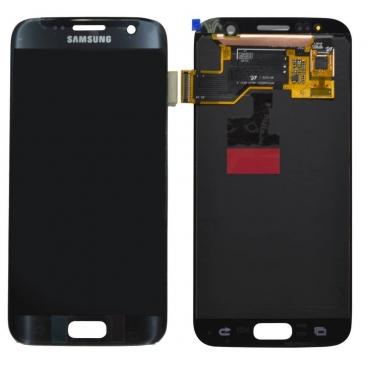Γνήσια Οθόνη Για Samsung SM-G930F Galaxy S7 Με Τζάμι Μαύρη GH97-18523A