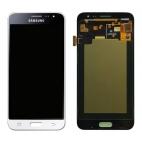 Γνήσια Οθόνη με Μηχανισμό Αφής Για Samsung J3 SM-J320F 2016 Λευκό GH97-18414A