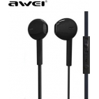 Ακουστικά AWEI ES-15Hi 3.5MM Με Μικρόφωνο Μαύρο