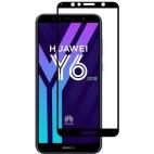 Full Glue Tempered Glass για Huawei Y6 2018 Μαύρο