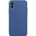 Θήκη Σιλικόνης Silky Soft Touch για iPhone X/XS Μπλε