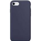 Θήκη Σιλικόνης Silky Soft Touch για iPhone 7/8 Μπλε