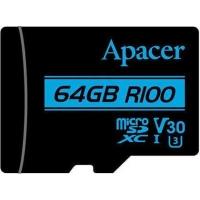 Apacer Memory Card Micro SDXC UHS-I U3 Class10 64GB V30 R100
