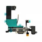 Flex θύρας φόρτισης/ακουστικων για iPhone 5C Μαύρο - OEM