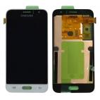Γνήσια Οθόνη LCD Για Samsung J1 SM-J120F 2016 Λευκό GH97-18224A