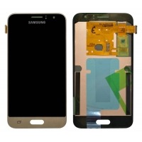Γνήσια Οθόνη με Μηχανισμό Αφής Για Samsung J1 SM-J120F 2016 Χρυσό GH97-18224B