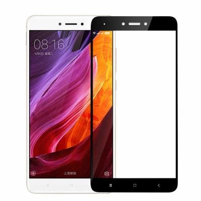 Full Cover Tempered Glass για Xiaomi Redmi Note 4x Μαύρο