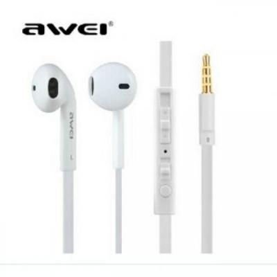 Ακουστικά AWEI ES-15Hi 3.5MM Με Μικρόφωνο Λευκό